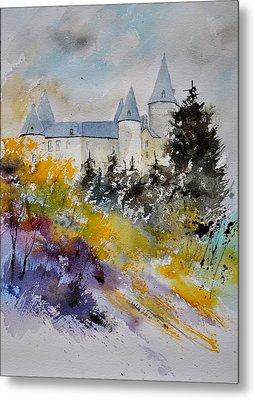 Castle Of Veves Belgium Metal Print by Pol Ledent