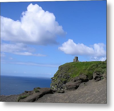 Castle On The Cliffs Of Moher Metal Print by Bill Cannon