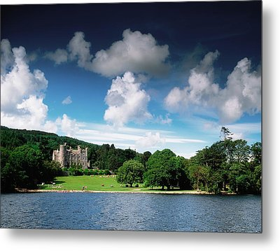 Castlewellan Castle & Lake, Co Down Metal Print by The Irish Image Collection