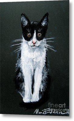 Cat I Metal Print by Mona Edulesco