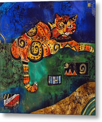 Cat Metal Print by Sandra Kern