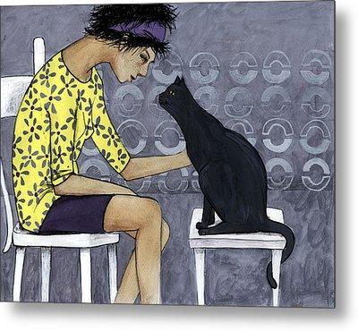 Cat Talk Metal Print by Georgiana Chitac