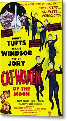 Cat Women Of The Moon, Sonny Tufts Metal Print by Everett