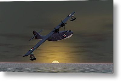 Metal Print featuring the digital art Catalina Sunset by Walter Colvin