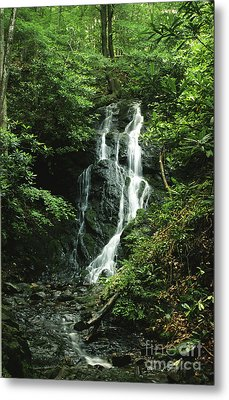 Metal Print featuring the photograph Cataract Falls In Smokies by Arthaven Studios