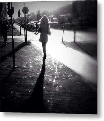 Catch Me If You Can. #woman #running Metal Print