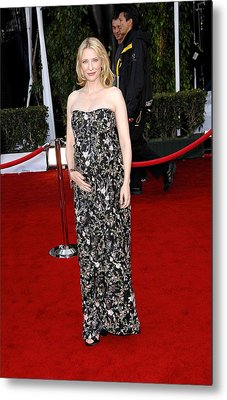 Cate Blanchett Wearing A Balenciaga Metal Print by Everett