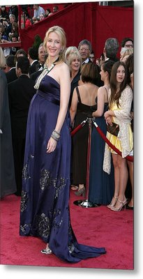 Cate Blanchett Wearing A Dries Van Metal Print by Everett