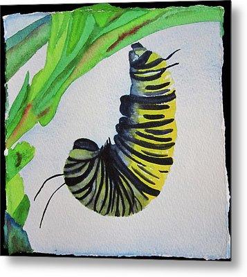 Metal Print featuring the painting Caterpillar by Teresa Beyer