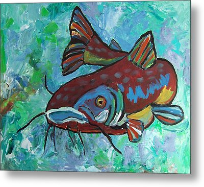 Catfish Metal Print by Krista Ouellette
