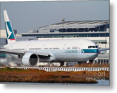 Cathay Pacific Airlines Jet Airplane At San Francisco International Airport Sfo . 7d11850 Metal Print by Wingsdomain Art and Photography