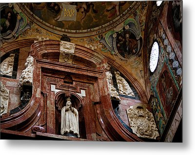 Metal Print featuring the photograph Cathedral Ceiling Detail by Lorraine Devon Wilke