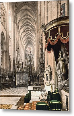 Cathedral In Amiens France Metal Print by International  Images