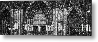 Metal Print featuring the photograph Cathedral In The Snow Panorama by Andy Prendy