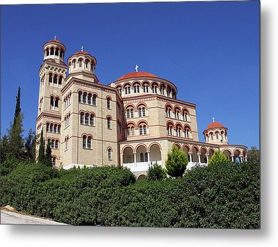 Cathedral Of Saint Nectarios At Aegina Metal Print