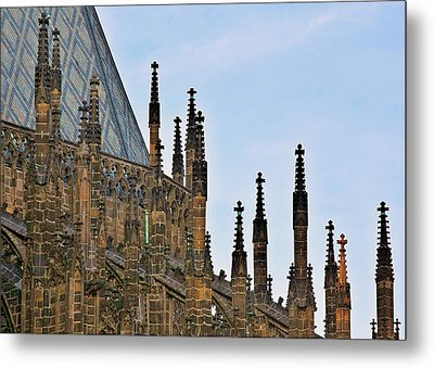 Cathedral Of Ss Vitus - Prague Castle Hradcany - Prague Metal Print by Christine Till