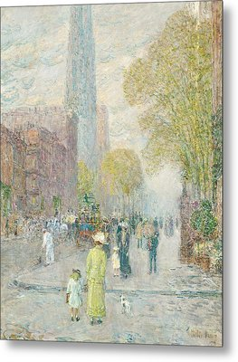 Cathedral Spires Metal Print by Childe Hassam
