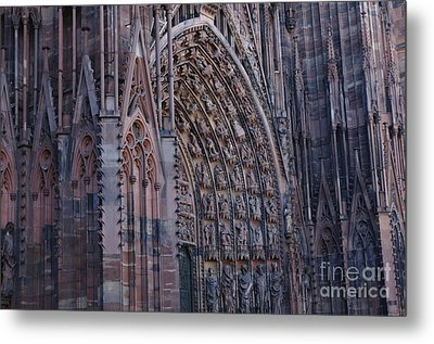 Catherdral In Strasbourg Germany Metal Print