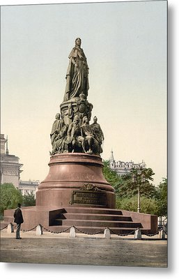Catherine II Monument In St. Petersburg Russia Metal Print by International  Images