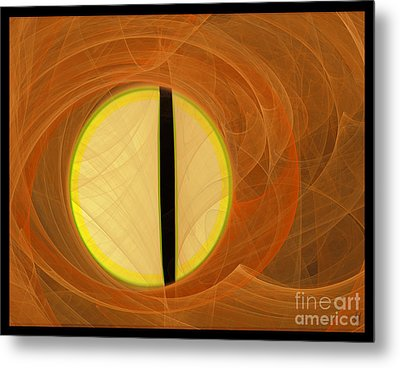 Metal Print featuring the digital art Cat's Eye by Victoria Harrington