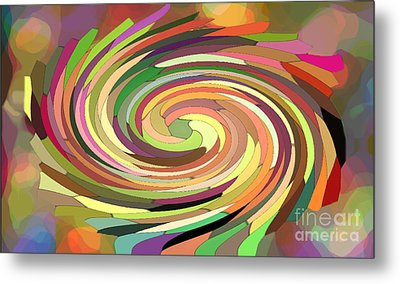 Cat's Tail In Motion. Stained Glass Effect. Metal Print by Ausra Huntington nee Paulauskaite