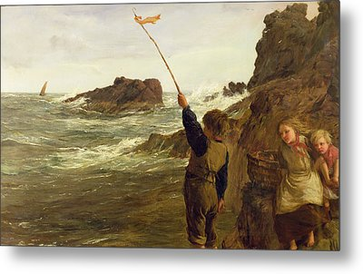 Caught By The Tide Metal Print by James Clarke Hook