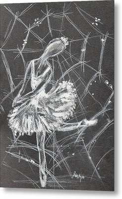 Caught In A Web  Metal Print by Sladjana Lazarevic