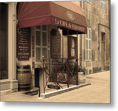 Cave Du Paradoxe Wine Shop In Beaune France Metal Print by Greg Matchick