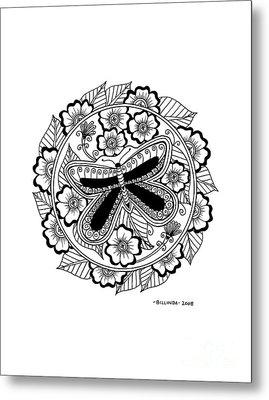 Cd 8 Black Butterfly Metal Print
