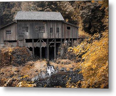 Cedar Creek Grist Mill Metal Print by Steve McKinzie