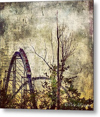 #cedarpoint #rollercoaster #ohio Metal Print by Pete Michaud