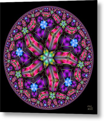 Metal Print featuring the digital art Celestial Coordinate System by Manny Lorenzo