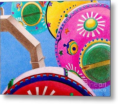 Celestial Ferris Wheel Metal Print by Glenda Zuckerman