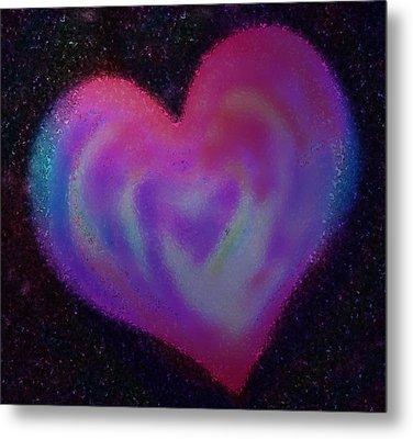 Celestial Heart Metal Print by Gina Barkley