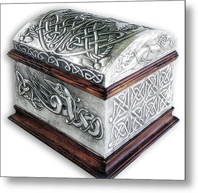 Celtic Chest 1 Metal Print by Rodrigo Santos