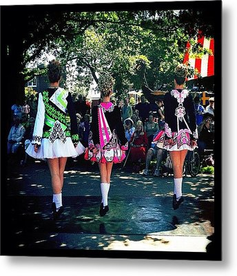 Celtic Dancing @ Syttende Mai Metal Print by Natasha Marco