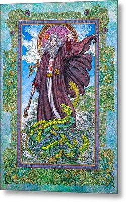 Celtic Irish Christian Art - St. Patrick Metal Print by Jim FitzPatrick