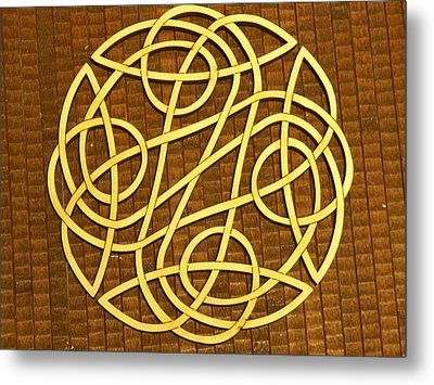 Celtic Knot Metal Print by Keith Cichlar
