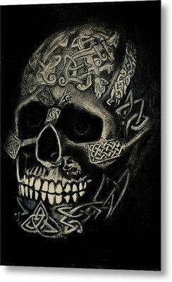 Celtic Skull Metal Print