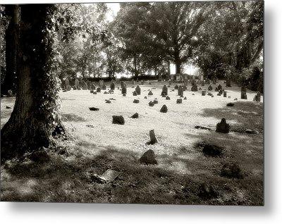 Cemetery At Mud Meeting House Metal Print by Mark Jordan