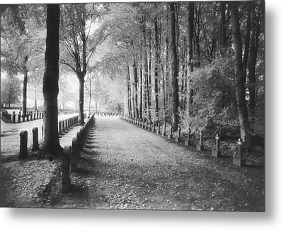 Cemetery At Ypres  Metal Print by Simon Marsden
