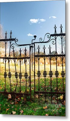 Cemetery Gates Metal Print by HD Connelly