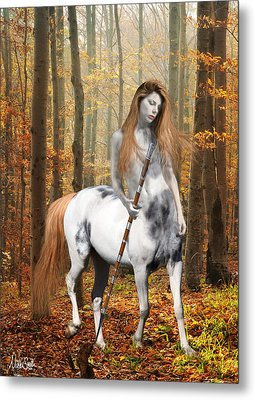 Centaur Series Autumn Walk Metal Print by Nikki Marie Smith