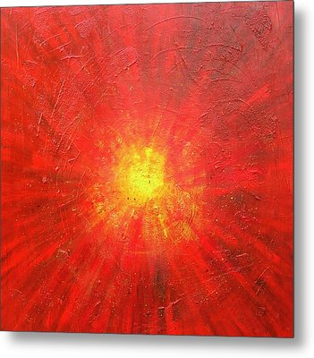 Centered Metal Print by Mary Kay Holladay