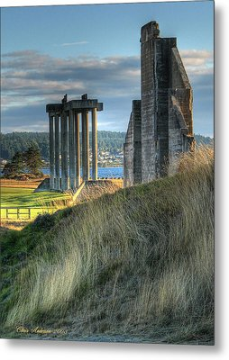 Central Meadow Ruins Metal Print by Chris Anderson