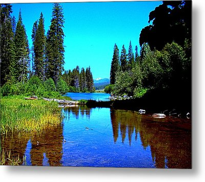 Central Oregon Tranquility  Metal Print by Nick Kloepping