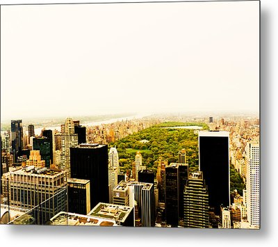Central Park And The New York City Skyline From Above Metal Print by Vivienne Gucwa