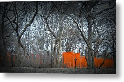 Central Park Metal Print by Naxart Studio
