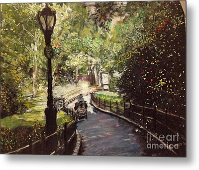 Central Park Upper East Side Metal Print by Barry Rothstein