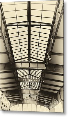 Central Railroad Of New Jersey  Metal Print by Leslie Leda